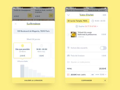 Frichti : New iOs app ui order iphone ios frichti food app