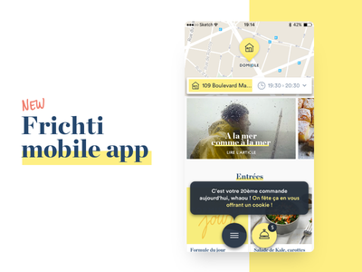 Frichti : New iOs app ui order iphone ios frichti food app