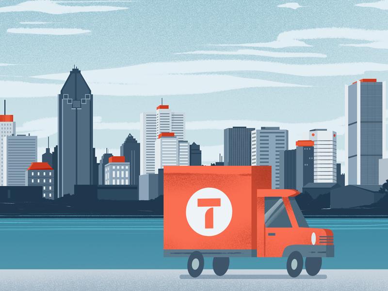 City truck montreal city