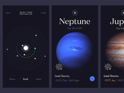 Planets - Concept planets app