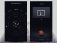 Planets - menu, game