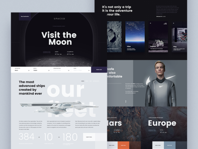 S P A C E D spacedchallenge moon homepage landing page space spaced