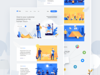Saas landing page for a chat/messaging service | Crisp