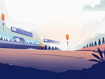 Deadline deadline landscape train illustration