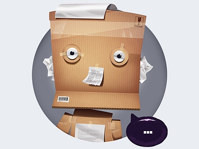Paper box paper illustration character