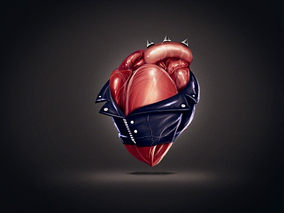Metal Heart icon illustration
