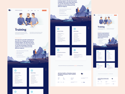 Training Landing Page for a Cloud Computing Startup