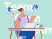 Illustration for a SasS Website