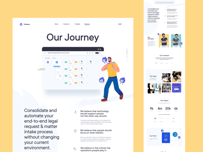 Our journey - Page Design for a SaaS website homepage illustration