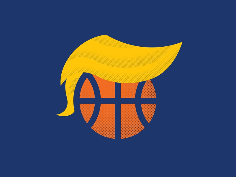 March Madness - Trump Hairball sports event team game games marchmadness hairstyle basketball ball hair