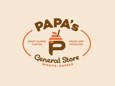 Papas General Store 2 drink straw novelties socks coffee floats general store
