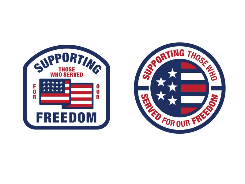 Supporting Freedom honors military veteran supporter stand free flag stripes stars serving freedom support