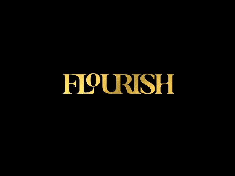 Flourish a salon styling style stylist typography foil elegant flow cutting cut hair boutique salon flourish