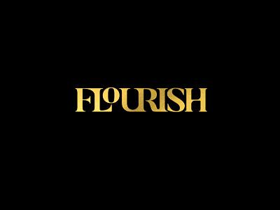 Flourish a salon styling style stylist typography foil elegant flow cutting cut hair boutique salon flourish