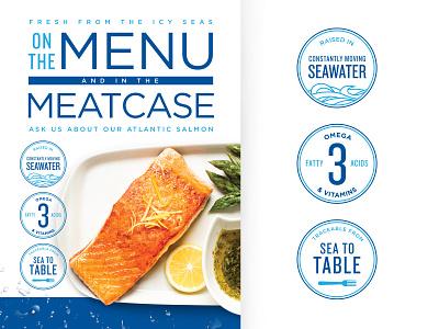 Seafood drops water seas seafood fish fresh icons tabltent salmon icon food sea