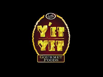 Y'et Yet Rebrand - Logo & Label product logo design identity logo package label jar packaging typography type rebrand rustic chili corn jalapeño gourmetfoods gourmet dip chip