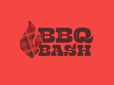 BBQ Bash tablecloth ovenmit plaid logo brand town bash barbque bbq cookoff event