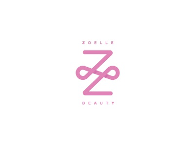 Z O E L L E pink logo letter z cosmetics beauty zoelle