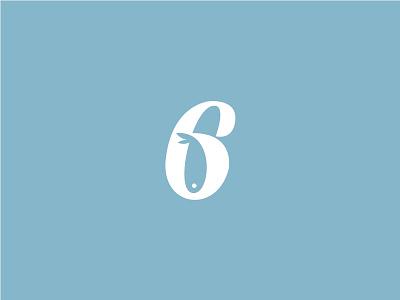 Six Sailors number letter logo icon fish sailors 6 six