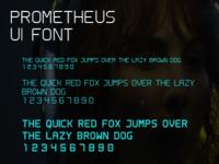 Prometheus UI Font