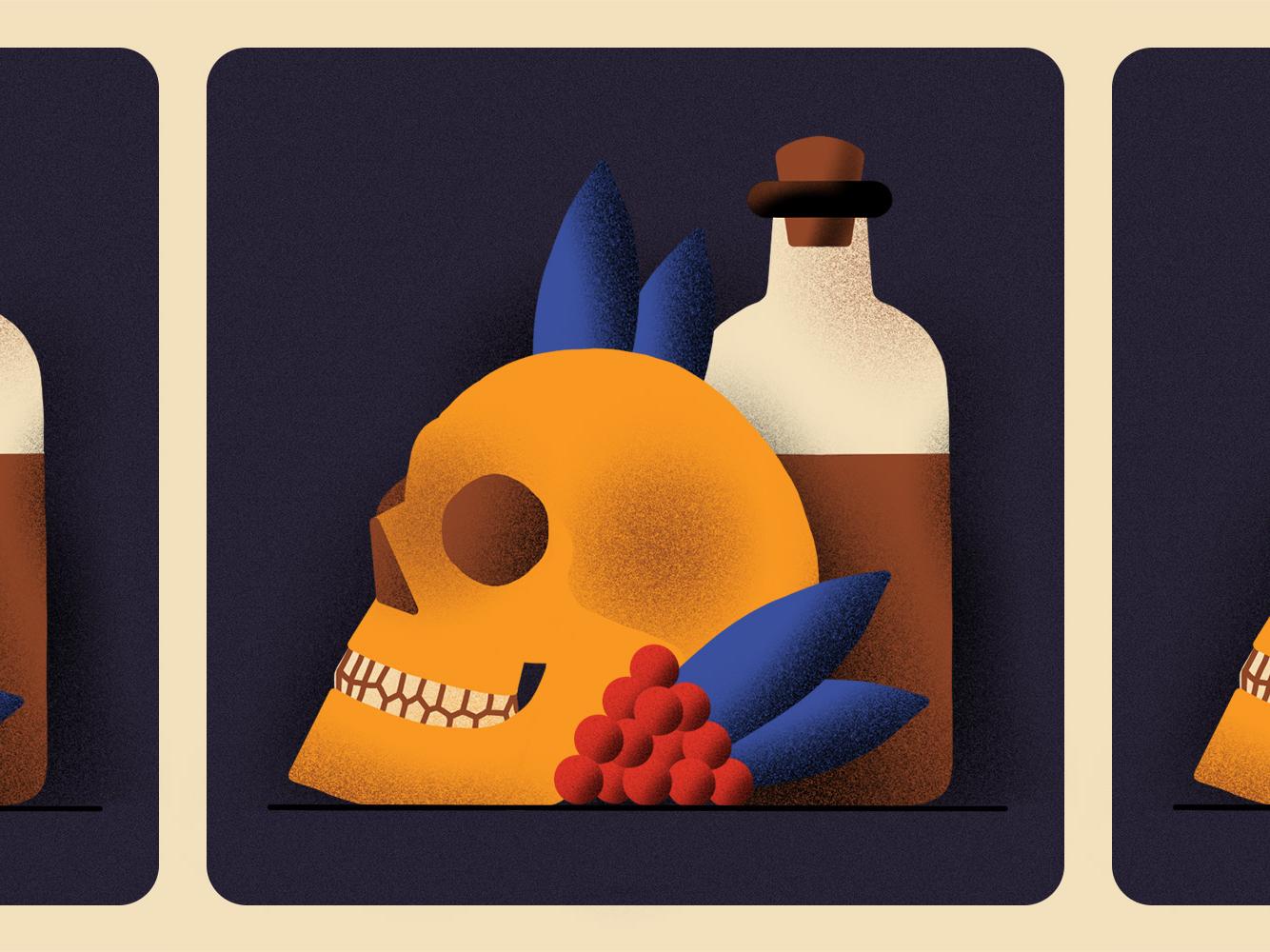 Inktober 01 - Poisonous poison skull ipadpro procreate inktober2018 inktober