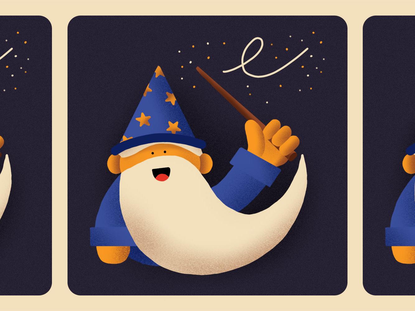 Inktober 04 - Spell procreate ipadpro illustration magician spell magic inktober