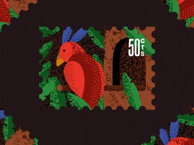 Inktober 14 - Clock inktober bird house textures truegrit cuckoo clock cuckoo bird procreate ipadpro flatdesign stamps illustration
