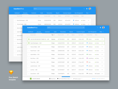 Free Payment System Admin Template (v1) sketch admin web free template freebee payment system fintech notification accounts
