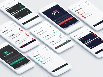 iOS Mobile Bank fintech finance sign up login credit card bank account whitelabel mobile payment system payment banking bank
