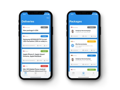 Logistics App Mobile Dashboard iphone x mobile ios product design parcell package delivery logistics dashboard