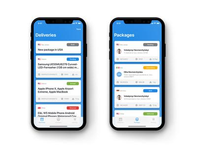 Logistics App Mobile Dashboard