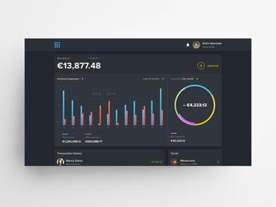 Web Wallet Homepage Concept (Dark)
