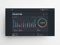 Web Wallet Homepage Concept (Dark) dark mode web design web application web app design wallet app finance app dark ui dashboad bank app fintech