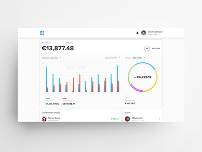 Web Wallet Homepage Concept (Light)
