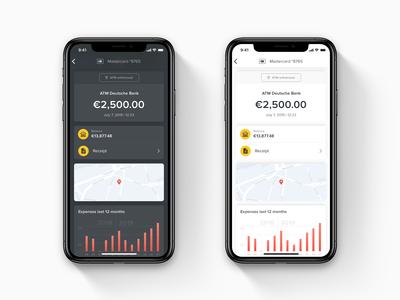 Mobile Transaction Details Concept
