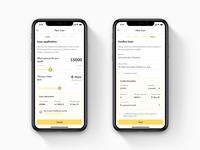 Loan application form bank app form design concept ios light ui loan app loan finance app fintech