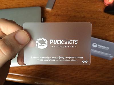 Puckshots Business Card