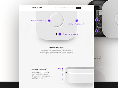 Smart Beacon Management Website 3d design ux ui webdesign