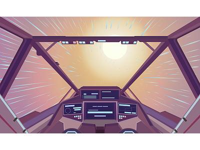 Exploring No Man's Sky space ship no mans sky vector design illustration flat space