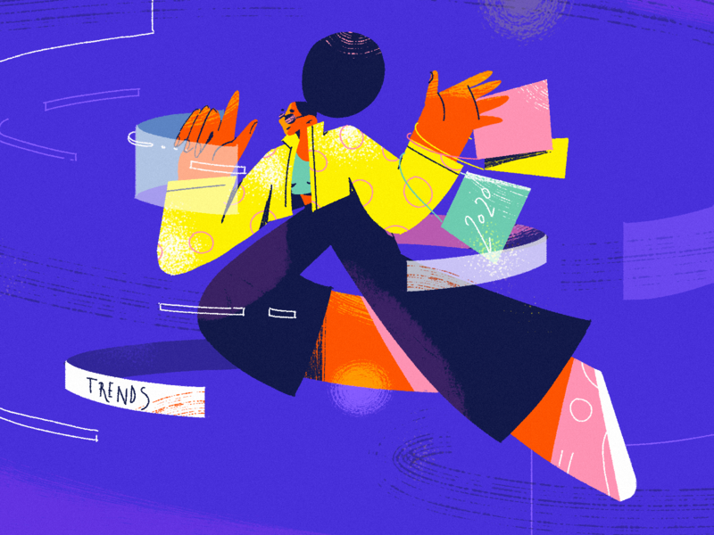 E-commerce Trends app trends 2020 trends news ux fireart blog article ui character design illustration e-comerce