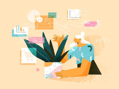 Product Cycle cycle news article ux plant fireart blog ui product character design 2d illustration