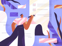 Checklist news ux article fireart illustration ui small business list webdesign website checklist