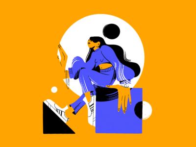 Adi Girl character design sport girl procreate design illustration