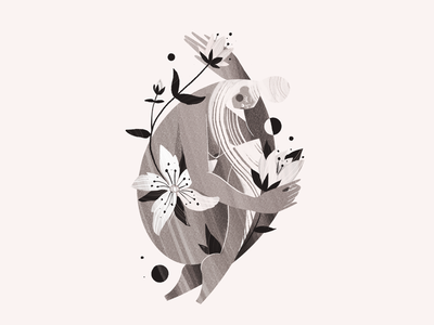 Hypericum Perforatum girl procreate inktober ink illustration woman plant flowers
