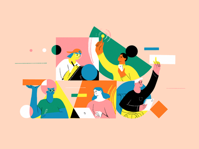 Equality And Diversity people hubstaff diversity equality collab work team ux ul procreate shapes remote work