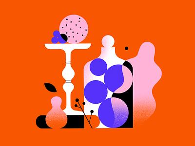 Still here still life 44 plants fruit procreate illustrator stilllife shapes 2d vector illustration