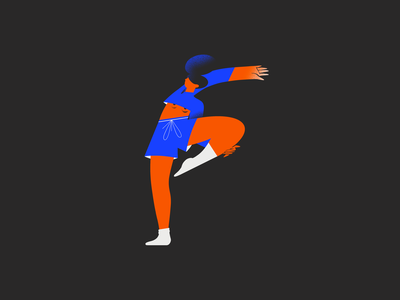 Focus - 36 days of type focus girlpower woman stretching yoga letter 36days 36daysoftype girl 2d character design illustration