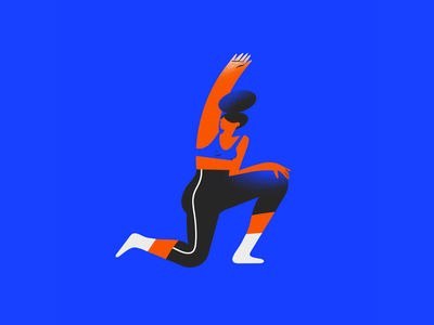 H - 36 days of type fitness workout 36days 36dayoftype typogaphy yoga stretching woman procreate girl 2d character design illustration