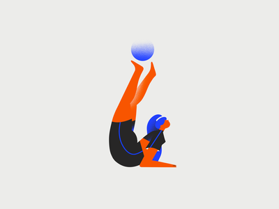 I - 36 days of type 36days 36dayoftype typogaphy woman workout fitness yoga girl 2d character design illustration