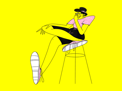 Badass Girl procreate character design 2d character design illustration girl